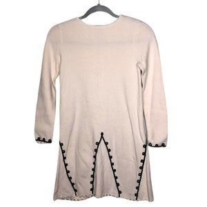 Hanna Andersson Ivory Embellished Sweater Dress